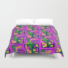 Babe from the Black Lagoon Duvet Cover