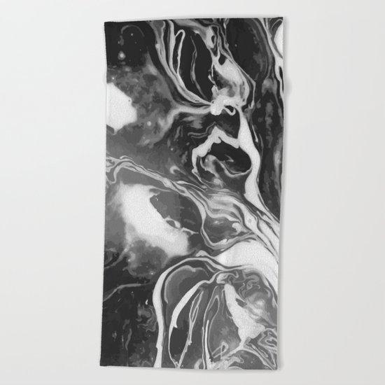 Melt - Asphalt Beach Towel