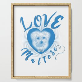 Maltese Dog Puppy Endless Love wb Serving Tray