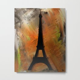 Rustic Eiffel Tower Metal Print