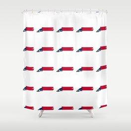 flag of north carolina 2, south,america,usa,Old North State,Tar Heel,North Carolinian,Charlotte,Rale Shower Curtain