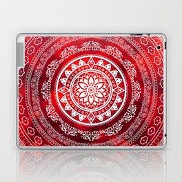 'Scarlet Destiny' Red & White Flower Of Life Boho Mandala Design Laptop & iPad Skin