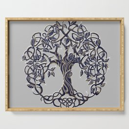 Tree of Life Silver Serving Tray