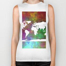 WORLD MAP #society6 Biker Tank