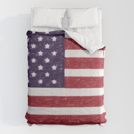 USA flag - in Crayon Comforters