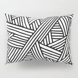 Abstract white & black Lines and Triangles Pattern - Mix and Match with Simplicity of Life Pillow Sham