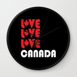 Canada Canada Gift Canada Flag Wall Clock