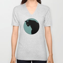 Blue Cat Unisex V-Neck