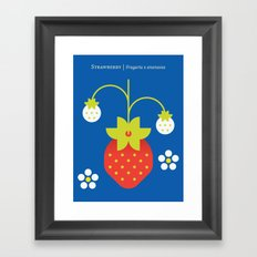 Fruit: Strawberry Framed Art Print
