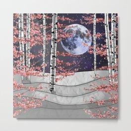 Pink Aspen Forest Metal Print