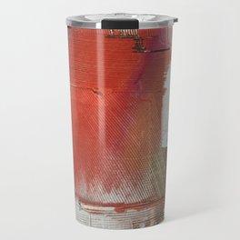 California Sun [2]: a minimal, abstract piece in reds and gold by Alyssa Hamilton Art Travel Mug