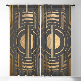 Art Deco Unfinished Love In Grey Blackout Curtain