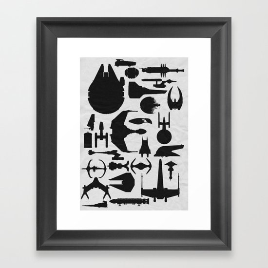 Famous sci fi ships framed art print by ewan arnolda for Black and white celebrity prints