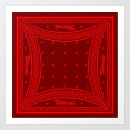 Morning Star (Red) Art Print
