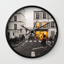 Lights On Wall Clock