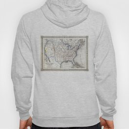 Vintage United States Gold Rush Regions Map (1852) Hoody