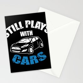 Still playing with cars screwdriver gift Stationery Cards
