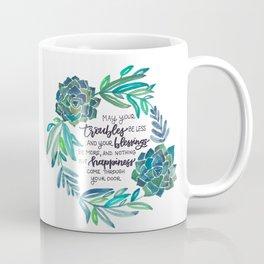 Succulent Wreath with Irish Blessing Coffee Mug