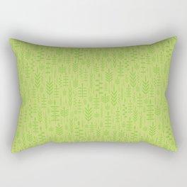 Soft green leaves Rectangular Pillow