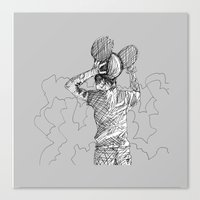 deadmau5 Canvas Prints featuring mau5 by HiddenStash Art