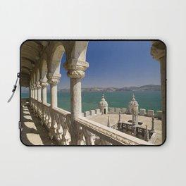 The Torre de Belem and river Tejo, Lisbon, Portugal Laptop Sleeve