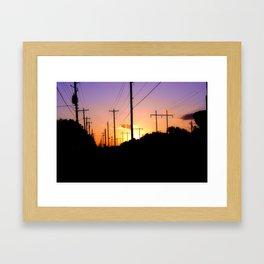 Lines of power Framed Art Print