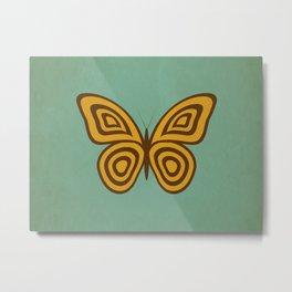 Retro Butterfly Metal Print