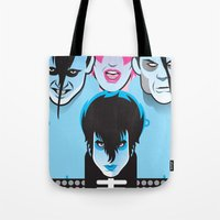 misfits Tote Bags featuring Jem & the Misfits by Greenfuzz