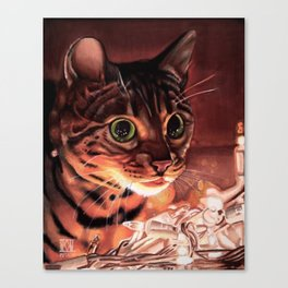 The Illuminated Feline Canvas Print