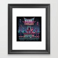 Commando Bionic Framed Art Print