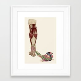 """ball and chain"" anatomical heart collage art by bedelgeuse Framed Art Print"