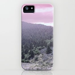 Pink Sunset on Mountains iPhone Case