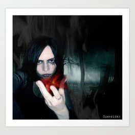Gothic Vampire Art Print