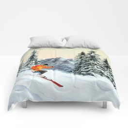 Skiing The Clear Leader Comforters