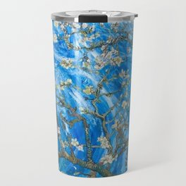 Vincent van Gogh Blossoming Almond Tree (Almond Blossoms) Windswept Travel Mug