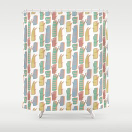 Pattern Project #33 / Tree Trunks Shower Curtain