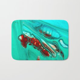 Turquoise abstract Bath Mat