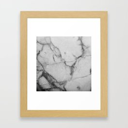 White Howlite Framed Art Print