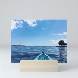 Bright Blue | Kayak on Severn River | Annapolis, MD Mini Art Print