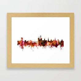 Iowa City Iowa Skyline Framed Art Print