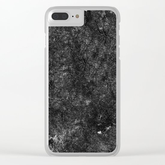Starry Black Marble Clear iPhone Case