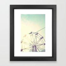 retro ferriswheel Framed Art Print