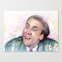 nicolas cage Canvas Prints featuring Nicolas Cage You Don't Say by Olechka