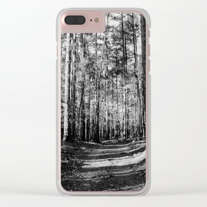 Forest Trail Clear iPhone Case