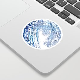Pacific Waves IV Sticker