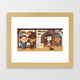 Phoenix Wright VS Professor Layton: Bakery Framed Art Print