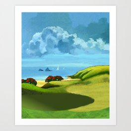 A Hot Day's Boating Art Print