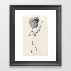 Moody David Framed Art Print
