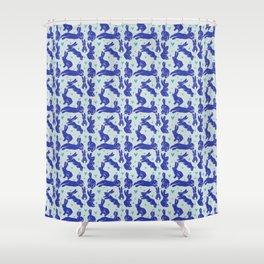 Bunny love - Blueberry edition Shower Curtain