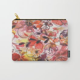 red and yellow flowers Carry-All Pouch